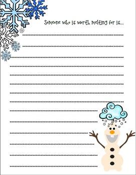 Olaf Writing Bundle *Frozen*