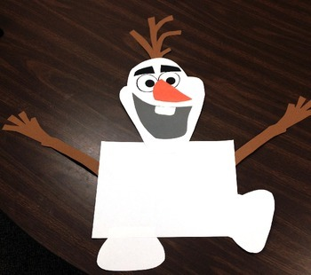 Olaf Writing Template