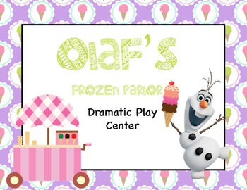 Ice Cream Dramatic Play: Olaf's Frozen Parlor