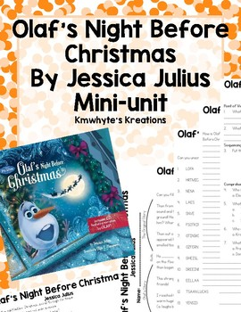 Olaf's Night Before Christmas Unit by Kmwhyte's Kreations | TpT