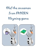 Olaf the snowman Rhyming game
