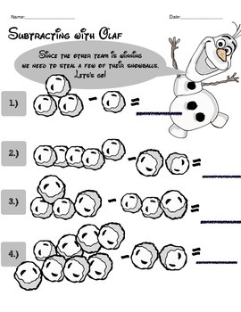 Olaf's Adventure ELA and Math Activity Packet