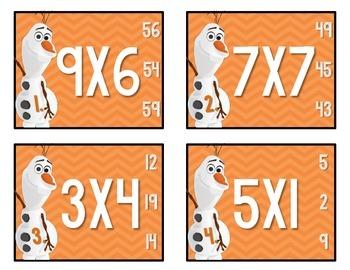 Olaf's Multiplication Task Cards