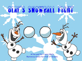 Frozen Themed Olaf's Snowball Fight Math Numeracy