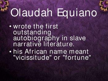 Olaudah Equiano - American Literature