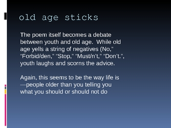 Old Age Sticks and ee cummings/Modernist Poetry Powerpoint