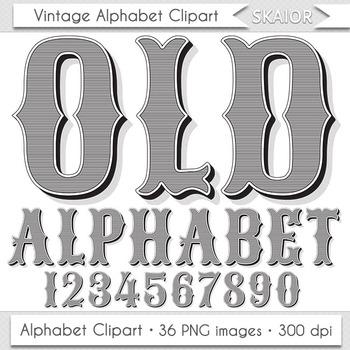 Old Alphabet Clip Art Vintage Letters Wild West Text Cowbo