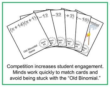 Old Binomial Factoring Game - Deck #1