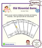Old Binomial Factoring Game - Deck #2