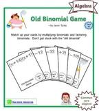 Old Binomial Factoring Game - Deck #3