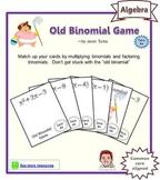 Old Binomial Factoring Game - Deck #4