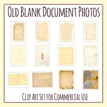 Old Blank Documents / Maps / Vintage Ephemera / Antique Papers Photos