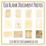 Old Blank Documents / Maps / Vintage Ephemera / Antique Papers Photos