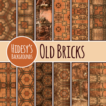 Old Brick / Vintage Backgrounds / Digital Papers / Clip Art Commercial Use