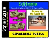 Old Car in Sand - Expandable & Editable Strip Puzzle with