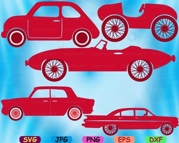 Circus Old Cars Toy Cutting files svg clip art cars car race fun party-67S