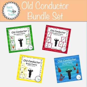 Music Old Maid - Old Conductor -Instruments- Bundle Set