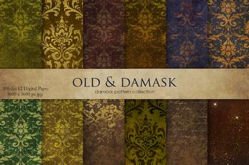 Old & Damask Digital Paper