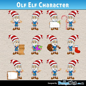 Old Elf Character – 12 Poses - Jpeg & Png's Only