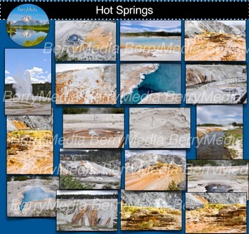Old Faithful Images, Hot Springs, Yellowstone National Park