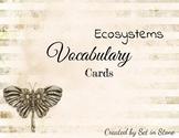 Old Fashion Ecosystem Vocabulary Cards