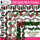 Christmas Clip Art Bundle {Santa, Snowman, Reindeer, Elf, Scrapbook Papers}