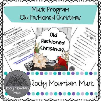 Old Fashioned Christmas Music Program