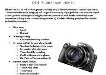 Old Fashioned Movie Project