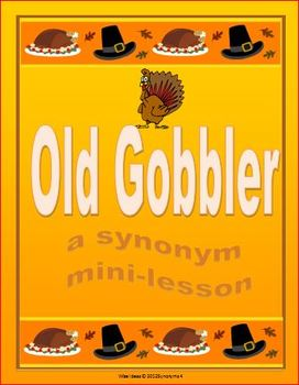 Old Gobbler Synonym Lesson Grade 4