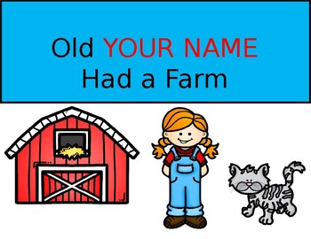Old *Insert your name* had a VOWEL farm