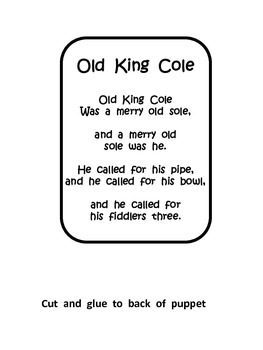 Old King Cole Paper Bag Puppet