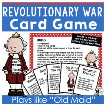 Revolutionary War Card Game Old King