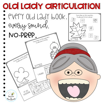 Old Lady Books No Prep Articulation