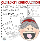 There Was an Old Lady Books No Prep Articulation