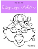 Old Lady Language Sliders: NO PREP Speech Therapy Activity