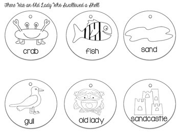 Old Lady Story Sequencing Necklaces