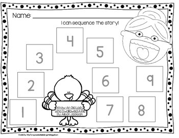 Old Lady Swallowed A Pie Listening Response, Sequencing & Reader!