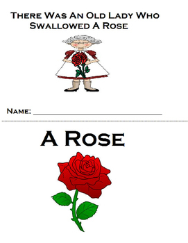 Old Lady Swallowed A Rose Adapted Book