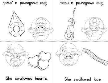 Old Lady Swallowed A Rose Listening Response, Sequencing & Reader!