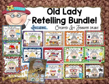 Old Lady Swallowed Listening Responses & Retelling Bundle!
