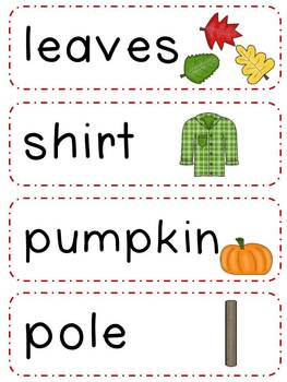 There Was an Old Lady Who Swallowed Some Leaves- Literacy Mini Pack