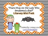 There Was an Old Lady Who Swallowed a Bat- Literacy Mini Pack