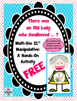 Old Lady Who Swallowed FREE Activity for Retelling & BONUS Christmas Bell Items