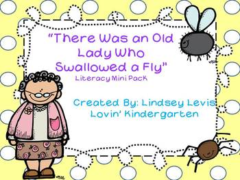 There Was an Old Lady Who Swallowed a Fly - Literacy Mini Pack