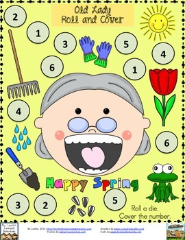 Old Lady Swallowed a Frog- 3 Roll and Cover Games {FREE}