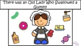 Old Lady Swallowed a Gummy BUNDLE- Digital AND Print Story for CVCV words