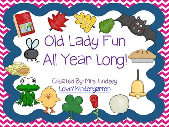 There Was an Old Lady Who Swallowed a Lot {BUNDLE for the Whole Year!}