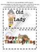 Old Lady Swallowed a Pie Activity, Retelling, Sequencing, Thanksgiving