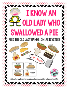 Old Lady Swallowed a Pie Activity, Retelling, Sequencing,