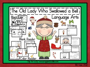 Old Lady Who Swallowed A Bell / Christmas/ Santa/ Reindeer/ Sequencing / Math